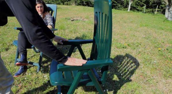 kerti műanyag szék festés