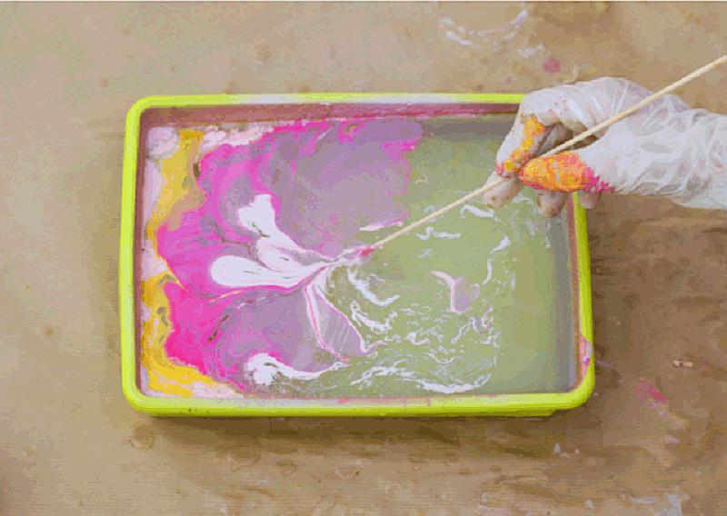 mozaik effect festés mintája II.