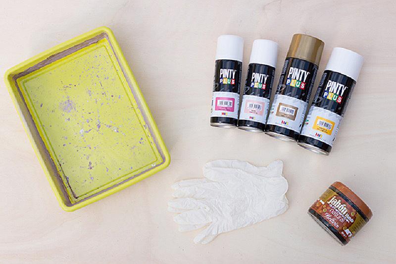 Márvány effect festés kellékei