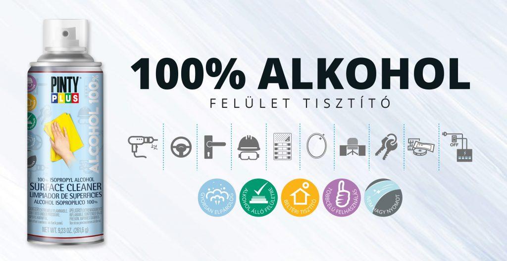 100% alkohol spray