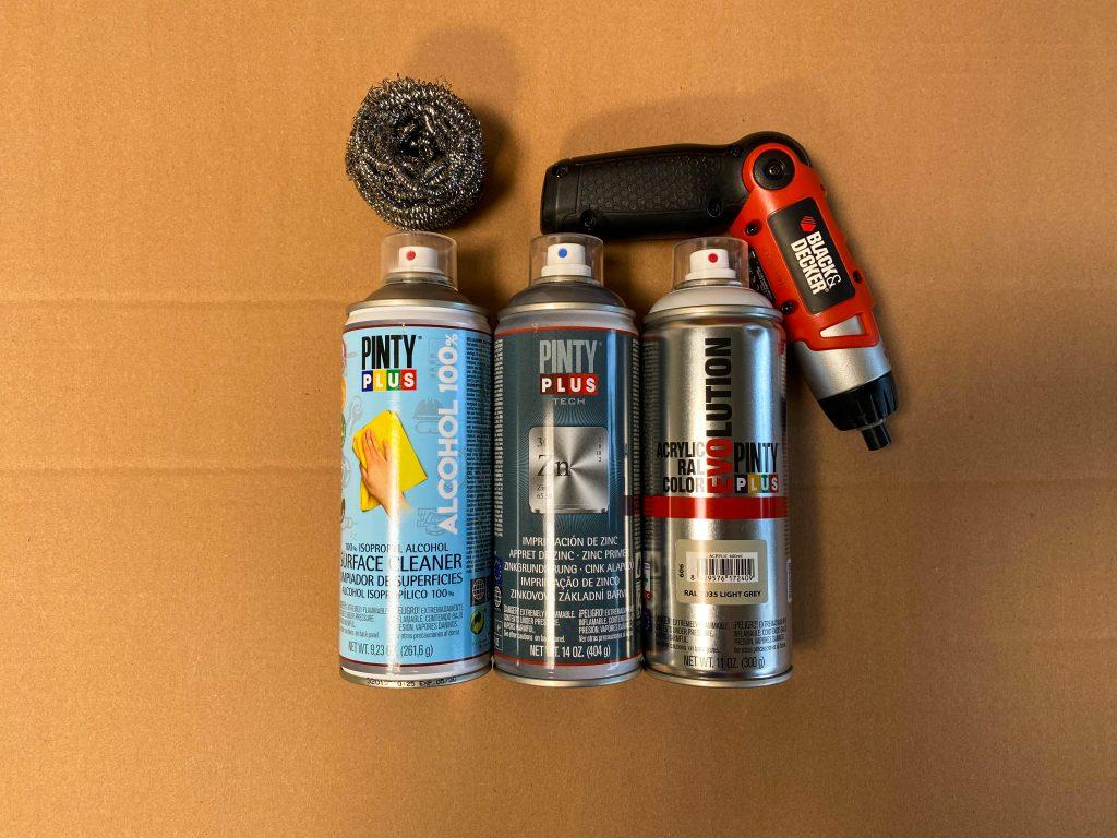 Szükséges eszközök - rozsdás vas átvfestése