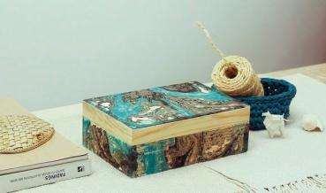 Így készíts márványos dobozt