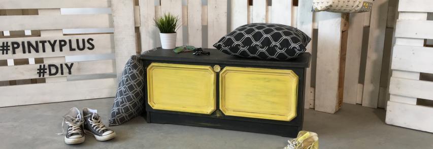 DIY – Vintage cipős szekrény festés
