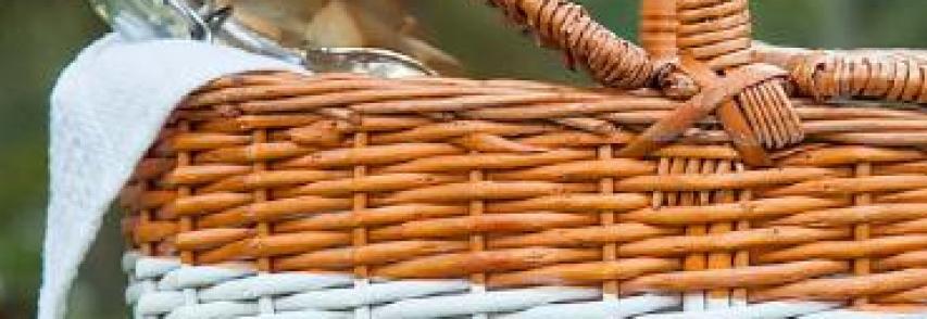 Színátmenetes piknikes kosár