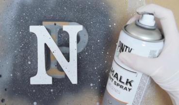 3 gránit effekt kréta festék sprayvel